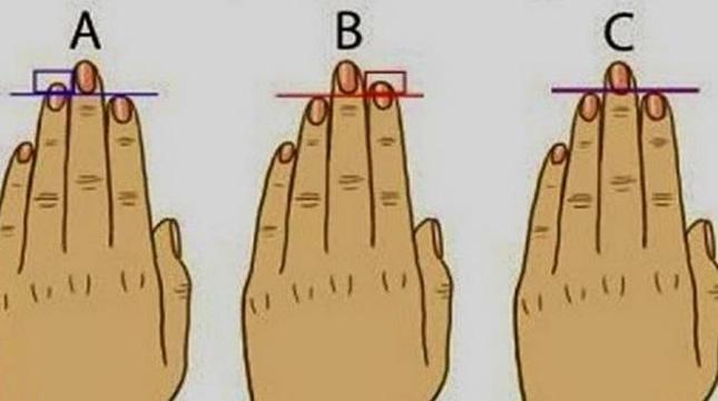 dužina prstiju pokazuje karakter