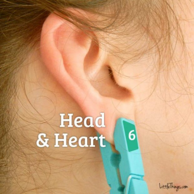 štipaljka na uhu